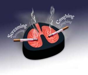 Coughing Ashtray!